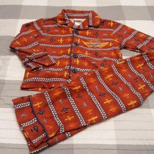 Boys disney store 2 piece fleece planes pajama 2t